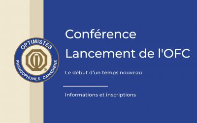Conférence Lancement de l'OFC – Le début d'un temps nouveau