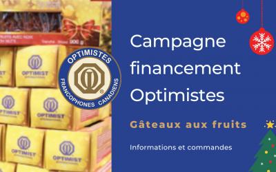 Campagne Gâteaux aux fruits Optimistes